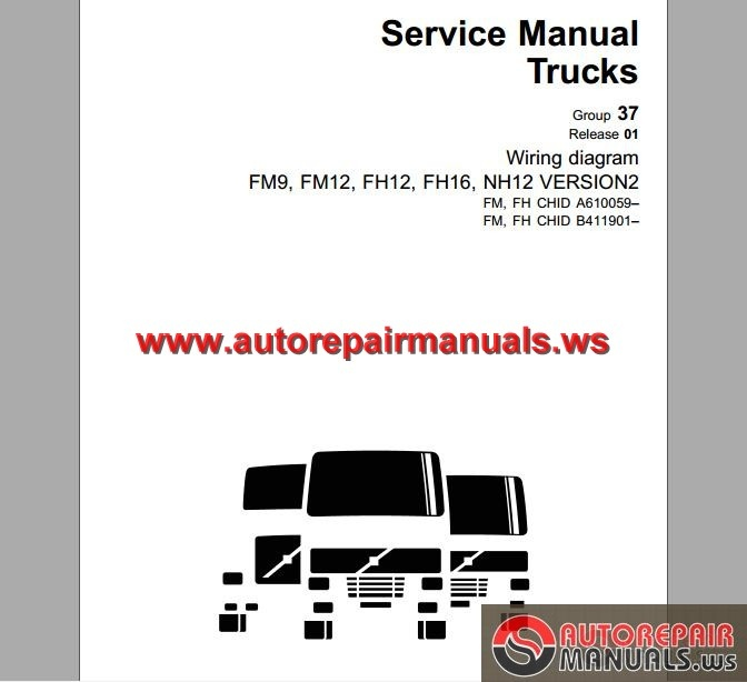 Volvo_Truck_FM9FM12FH12FH16NH12_Wiring_Diagram volvo trucks fm9,12,fh12,16,nh12 wiring diagram auto repair volvo fh wiring diagram at bayanpartner.co