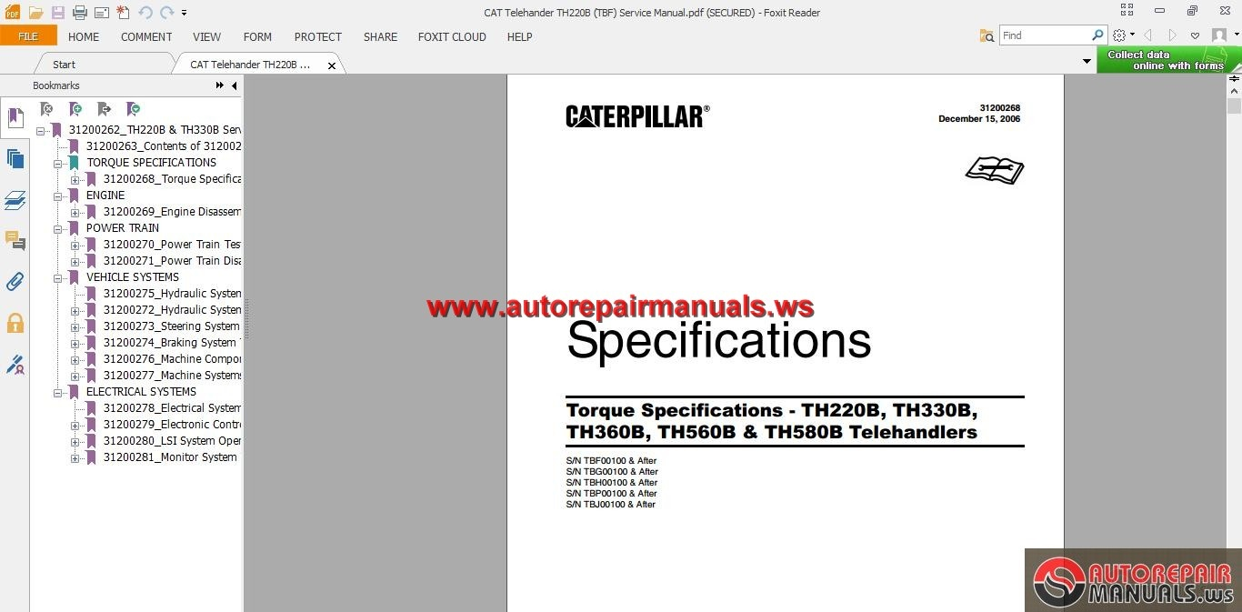 CAT_Telehander_TH220B_TBF_Service_Manual2 caterpillar sr4 generator wiring diagram dolgular com Caterpillar SR4B Model Specification Sheet at fashall.co