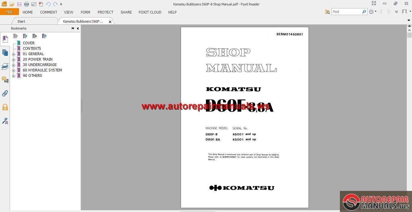 Komatsu Bulldozers D60f