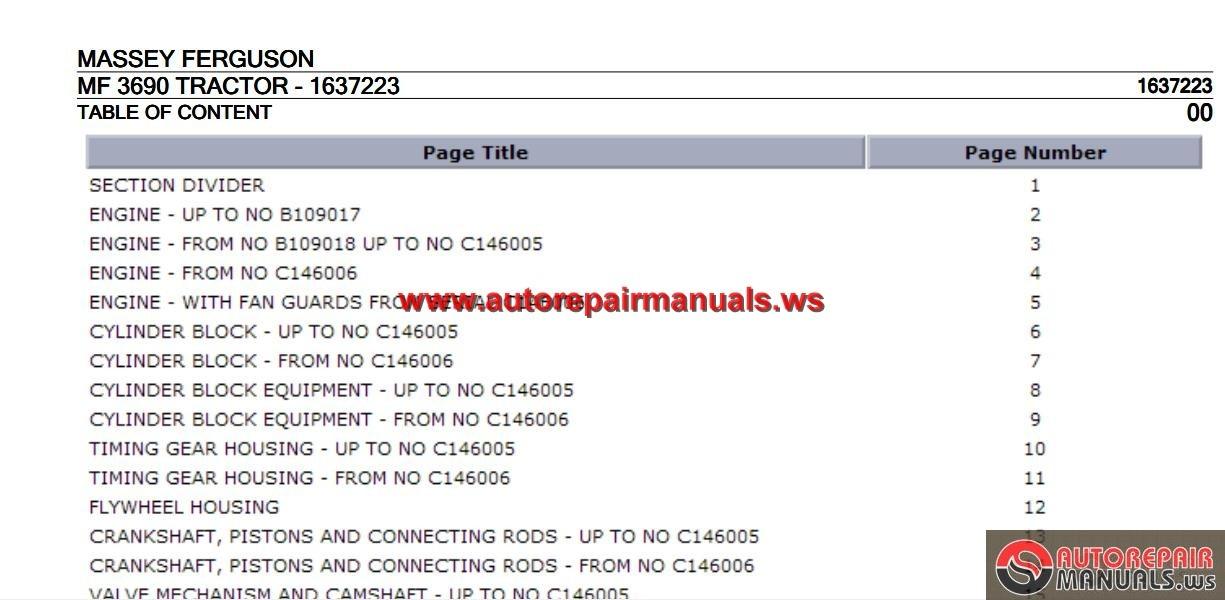 Massey Ferguson Spare Parts Catalogue Pdf | Carnmotors.com