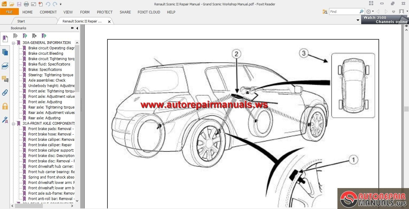 renault scenic ii repair manual