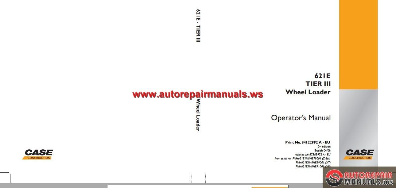 case 621d wheel loader service manual pdf repair manual