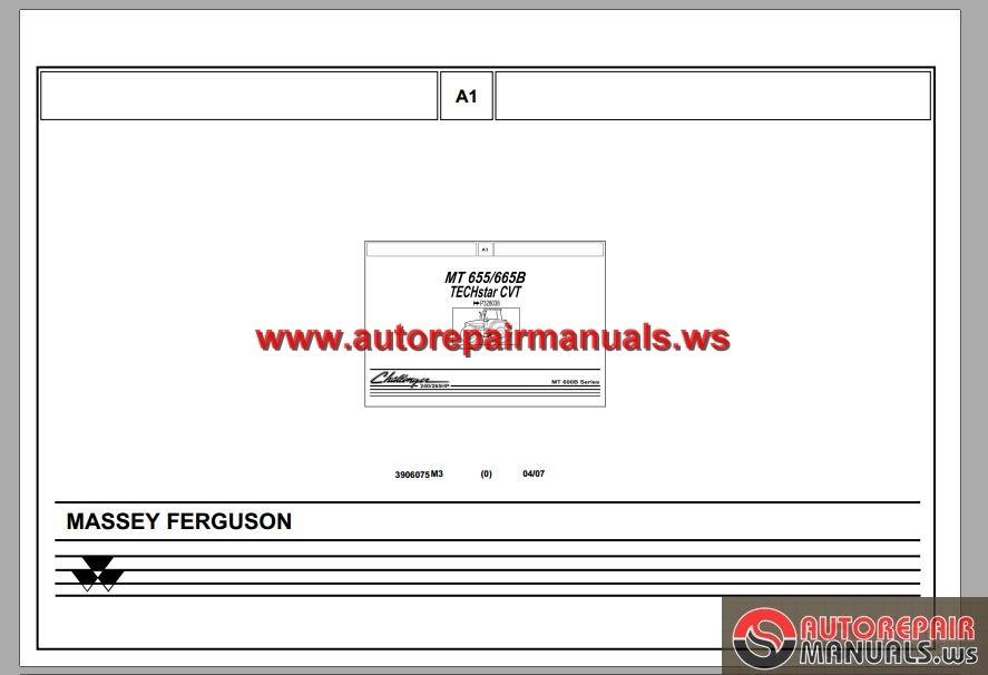 Challenger Mt655 Mt 665b Series Tier 3 Tractors Parts Manual