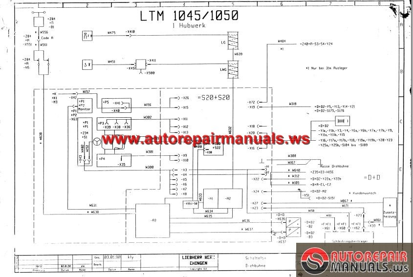 Liebherr_Mobile_Crane_LTM_1050_Diagrams_Electrical4 liebherr mobile crane ltm 1050 diagrams electrical auto repair liebherr wiring diagram at bayanpartner.co