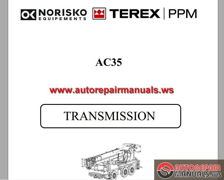 terex ppm ac35 transmission service manual for crane auto repair rh autorepairmanuals ws