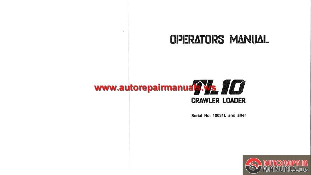 Takeuchi Crawler Loader TL10 Operator Manual   Auto Repair