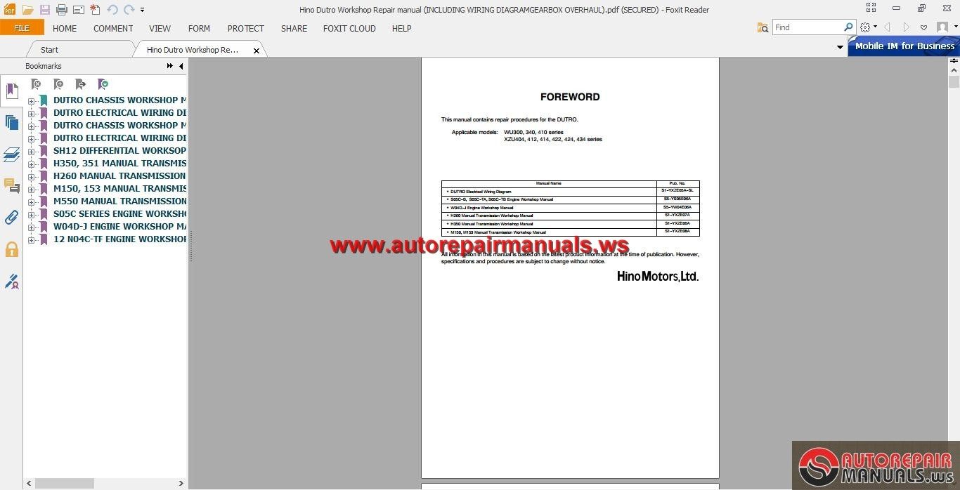 Hino_Dutro_Workshop_Repair_manual_INCLUDING_WIRING_DIAGRAMGEARBOX_OVERHAUL1  hino dutro workshop repair manual(including wiring diagram gearbox Kenworth  ...