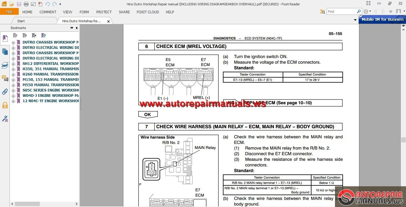 Hino Dutro Workshop Repair manual(INCLUDING WIRING DIAGRAM/GEARBOX  OVERHAUL) | Auto Repair Manual Forum - Heavy Equipment Forums - Download  Repair & Workshop ManualAutorepairmanuals.ws