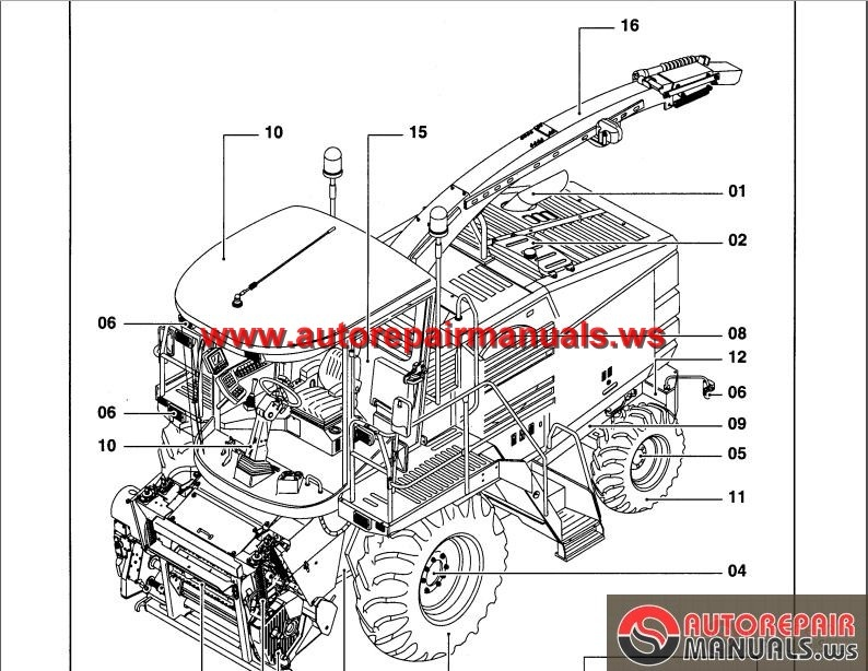 New Holland Fx30 Self Propelled Forage Harvester Parts Catalog on toyota wiring diagram