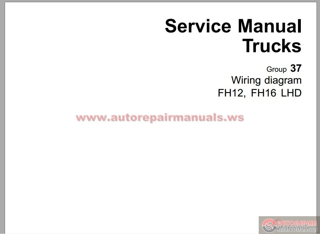 volvo fh4 truck wiring diagram service manual