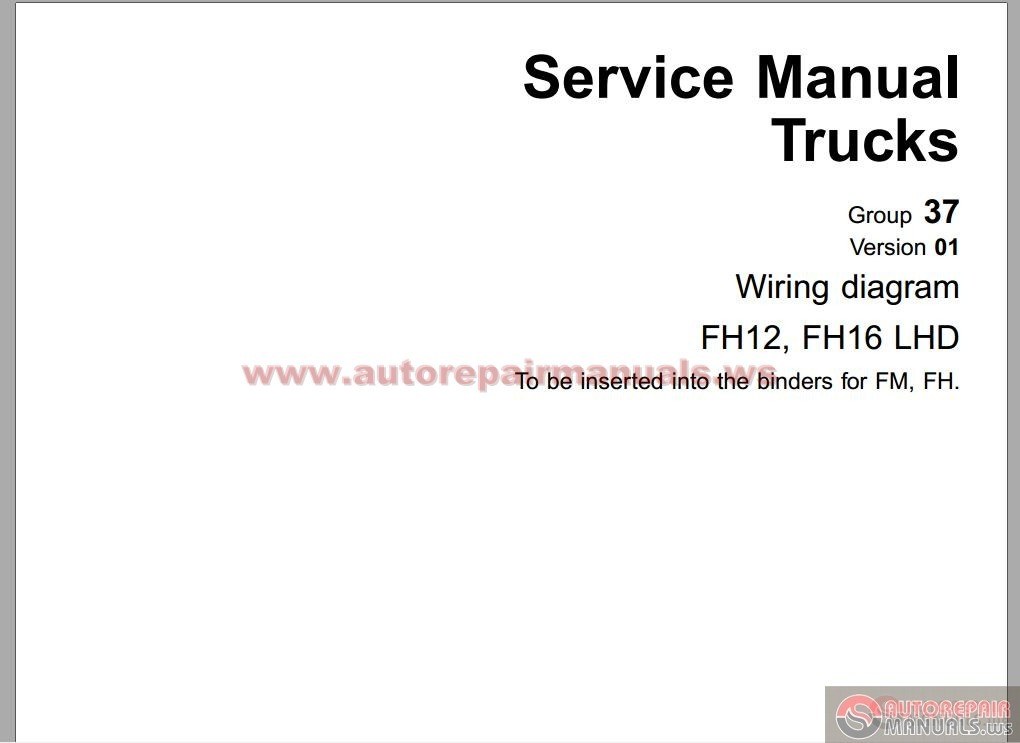 Volvo Fh12 C Type Workshop Manual Group 37 on volvo wiring diagram
