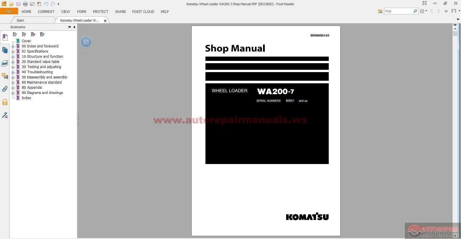 Komatsu Pc300 5 Manuals Auto Electrical Wiring Diagram Mini Cooper Io1068 Fuse Box Location Wheel Loader Service 2014