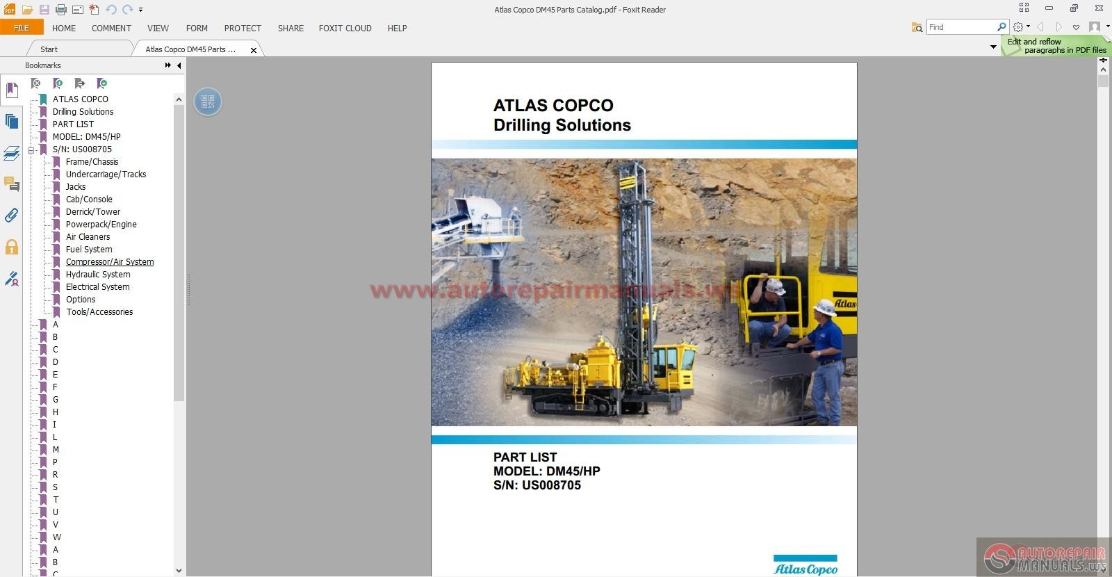 atlas copco dm45 parts catalog auto repair manual forum heavy rh autorepairmanuals ws atlas copco parts manuals atlas copco parts manual, model fp75