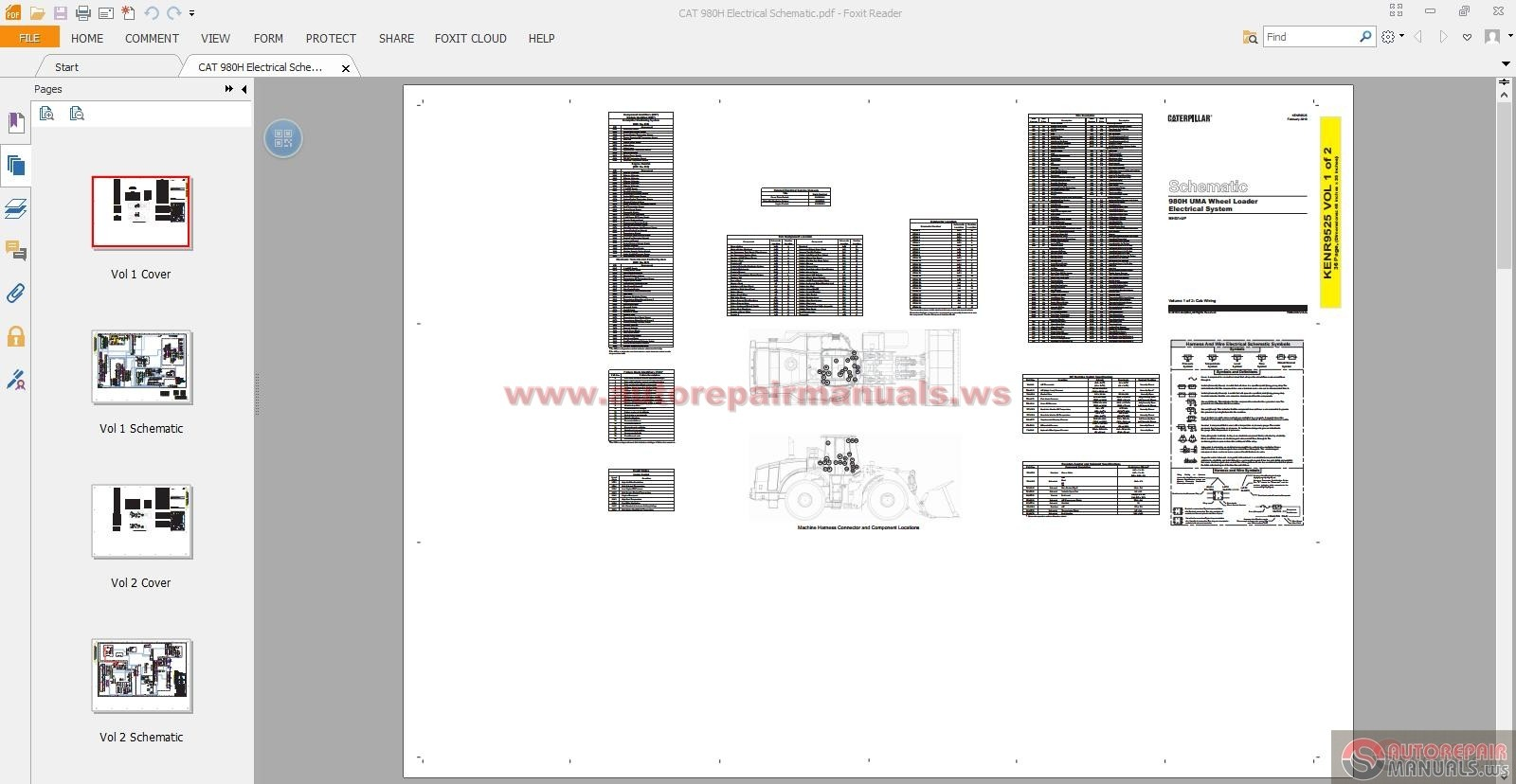 Keygen Autorepairmanuals Ws  Cat 980h Electrical Schematic