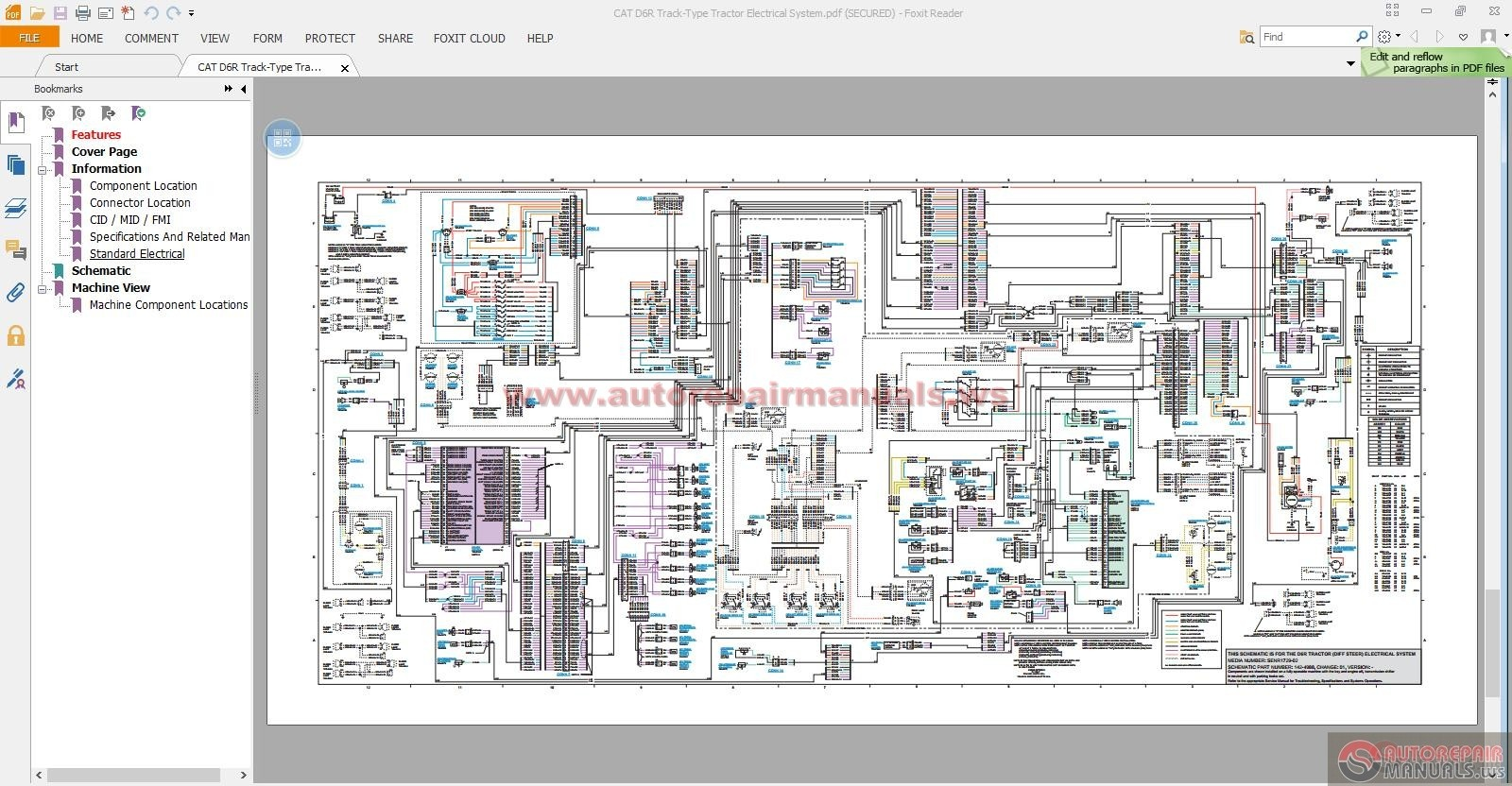 cat d6 wiring diagram cat wiring diagrams online description cat d6r tracktype tractor electrical system auto repair manual