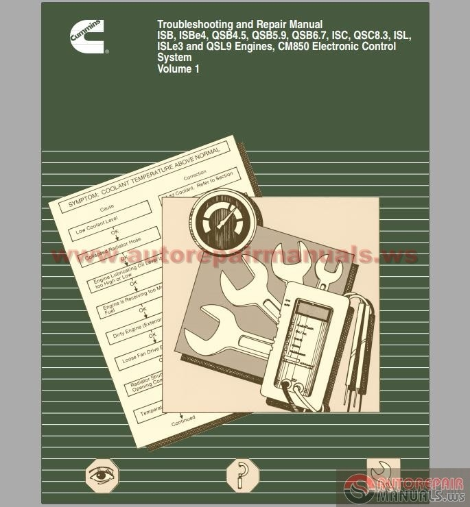 cummins cm850 troubleshooting and repair manual auto repair