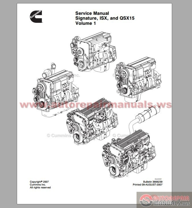 cummins isx qsb n14 service manual
