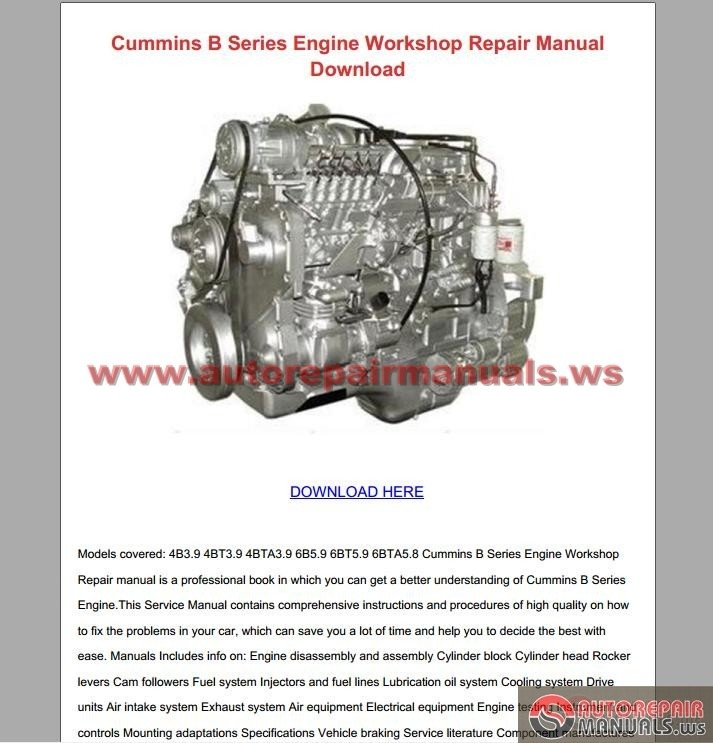 Cummins Service Manuals