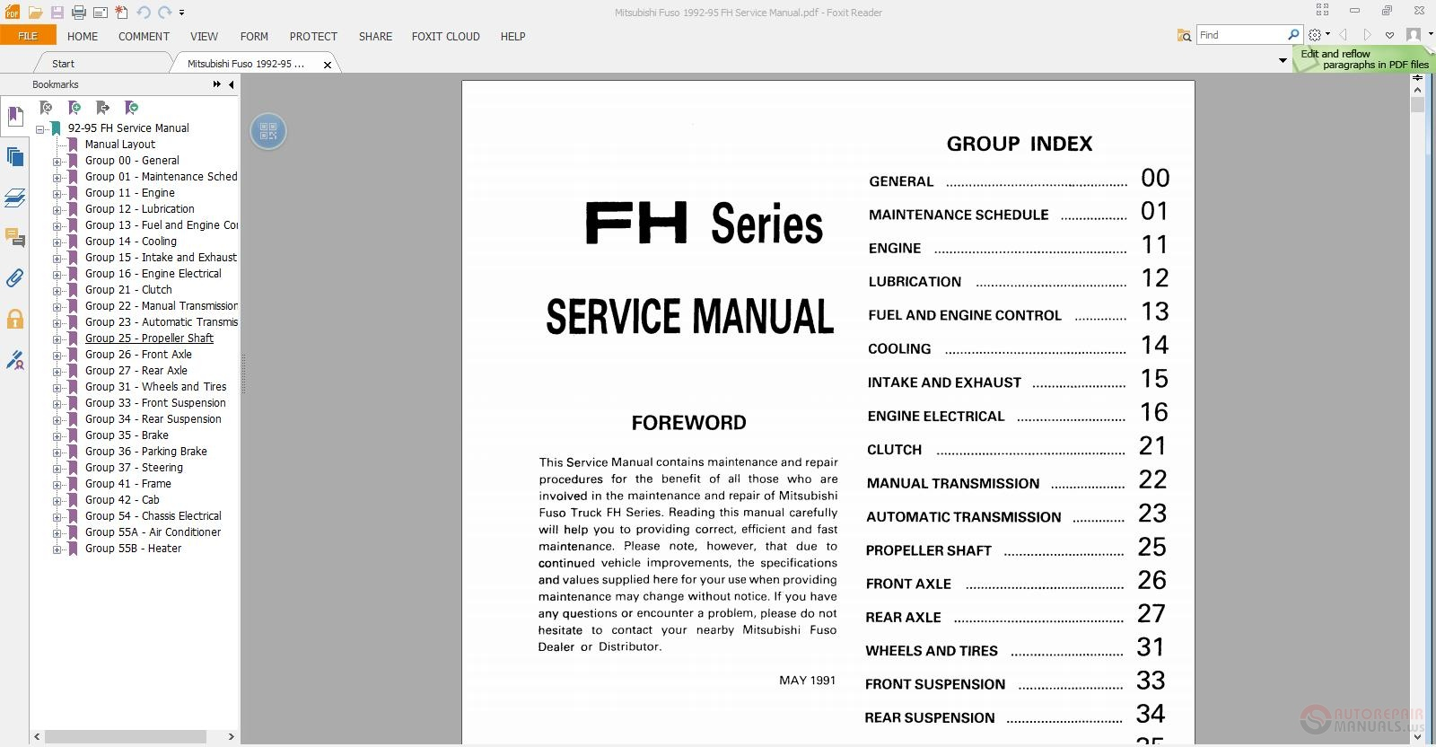 Mitsubishi Fuso 1992 95 Fh Service Manual on heavy truck wiring diagrams
