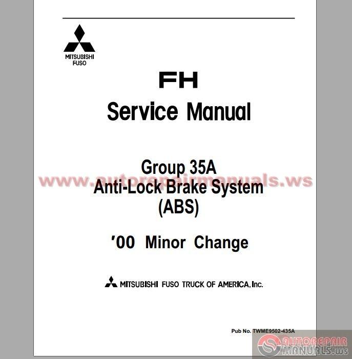 Mitsubishi Fuso 1996 2001 Fh Service Manuals Auto