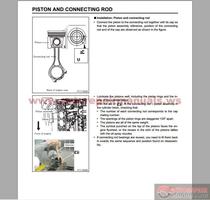 Service Manual Car Manuals Free Online 2006 Mitsubishi: Mitsubishi Fuso 2012 FE,FG Service Manuals