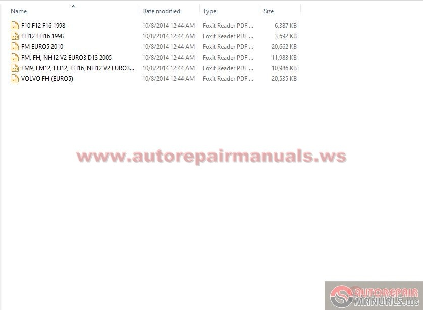Volvo Truck Service Manual All