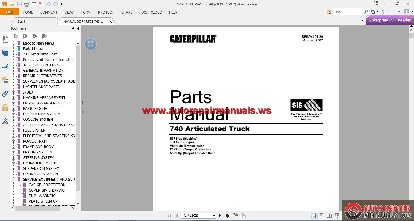 Cat 740 Articulated Truck Parts Manual on toyota wiring diagram