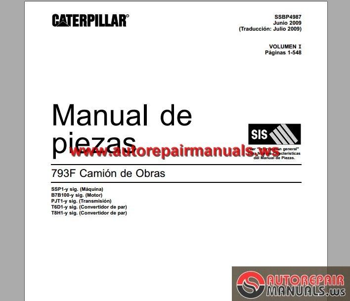 Cat 793f Truck Part Manual Part 1 Spanish