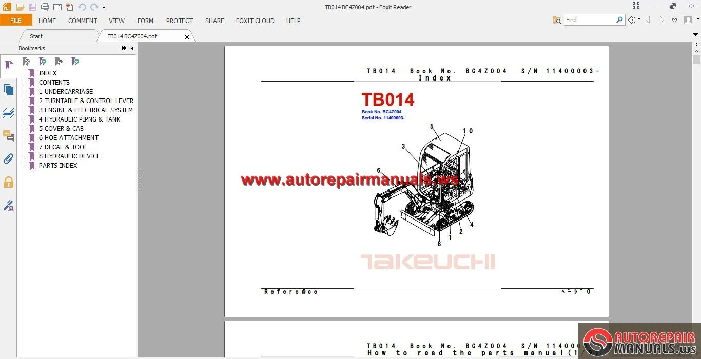 TAKEUCHI_EXCAVATOR_TB014_Parts_Manual2 takeuchi tb135 wiring diagram mini rubber tracks \u2022 edmiracle co Basic Electrical Wiring Diagrams at bakdesigns.co