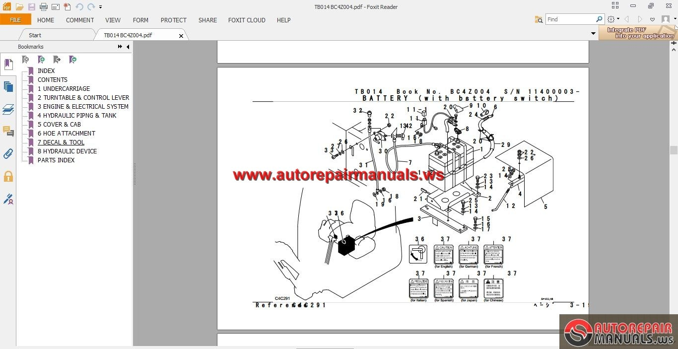 takeuchi excavator tb014 parts manual auto repair manual. Black Bedroom Furniture Sets. Home Design Ideas