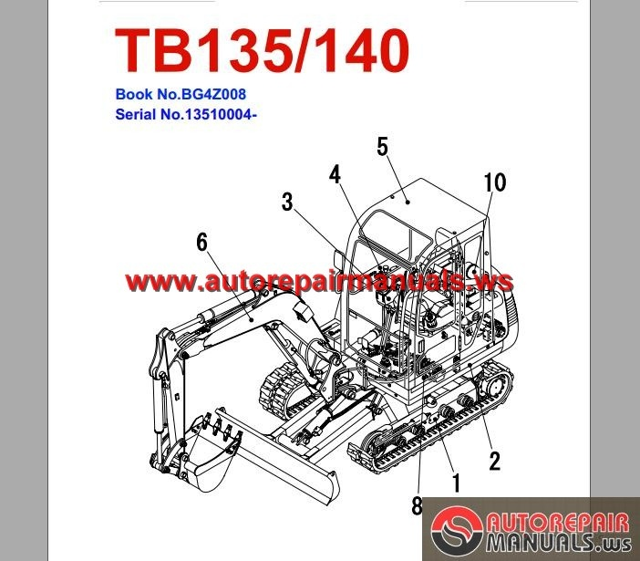 TAKEUCHI_EXCAVATOR_TB140_Parts_Manual takeuchi excavator wiring diagram hitachi excavators wiring takeuchi tb175 wiring diagram at edmiracle.co