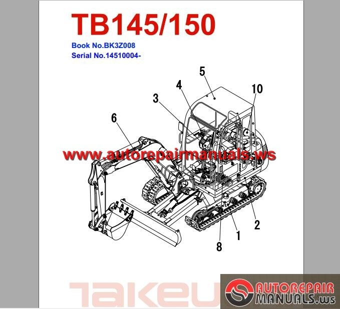 takeuchi excavator tb145 parts manual auto repair manual. Black Bedroom Furniture Sets. Home Design Ideas