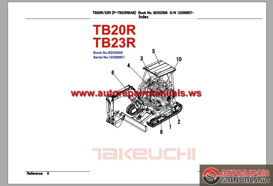 Takeuchi Excavator Tb23 R Parts Manual Auto Repair border=