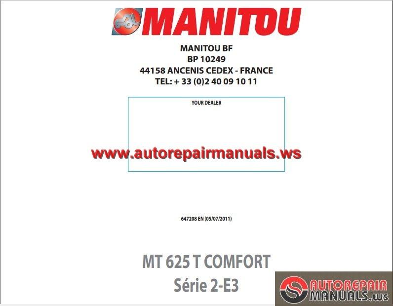 Manitou Mt625t Comfort Serie 2