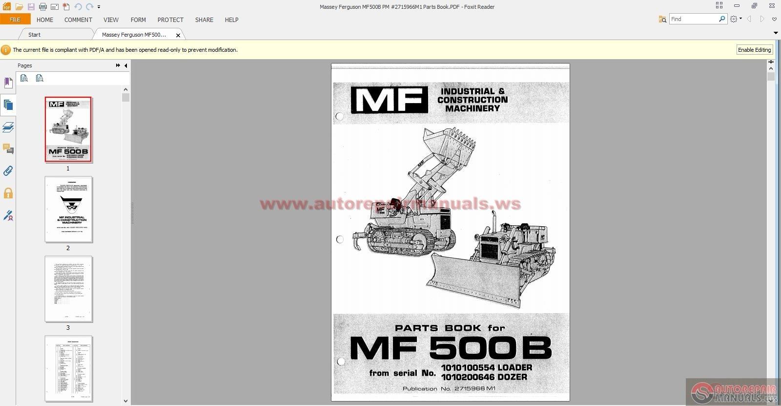 More the random threads same category: Massey Ferguson MF 7245 COMBINE Parts  Catalog ...