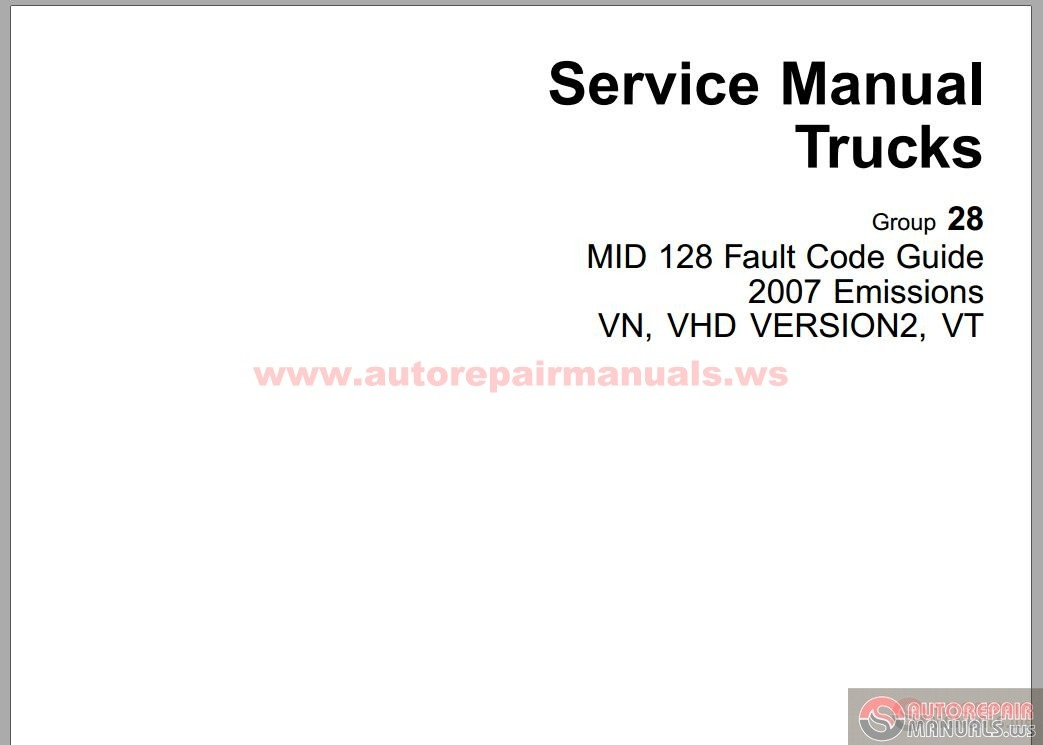 Volvo MID 128 Fault Code Guide | Auto Repair Manual Forum