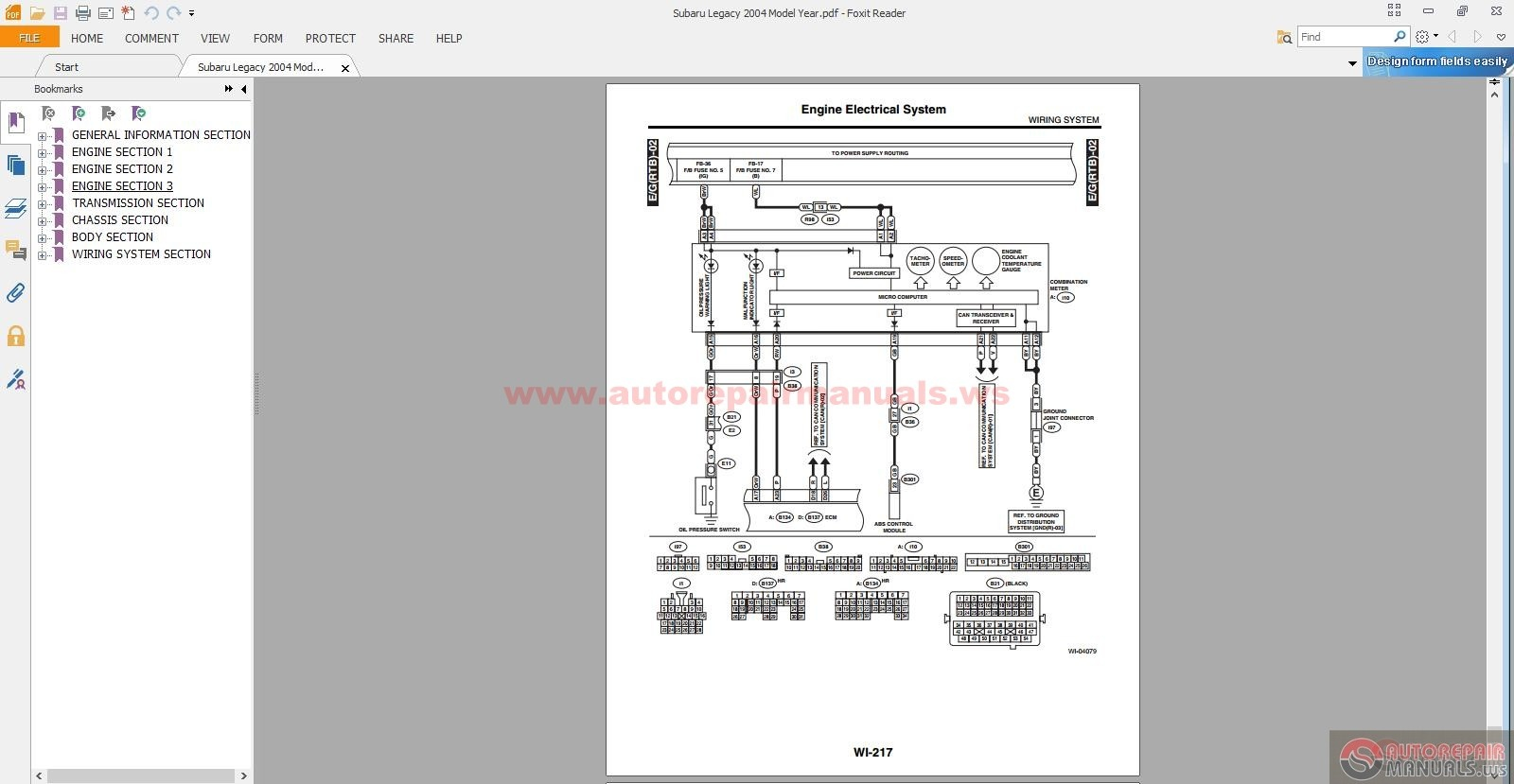 1996 subaru legacy service manual pdf