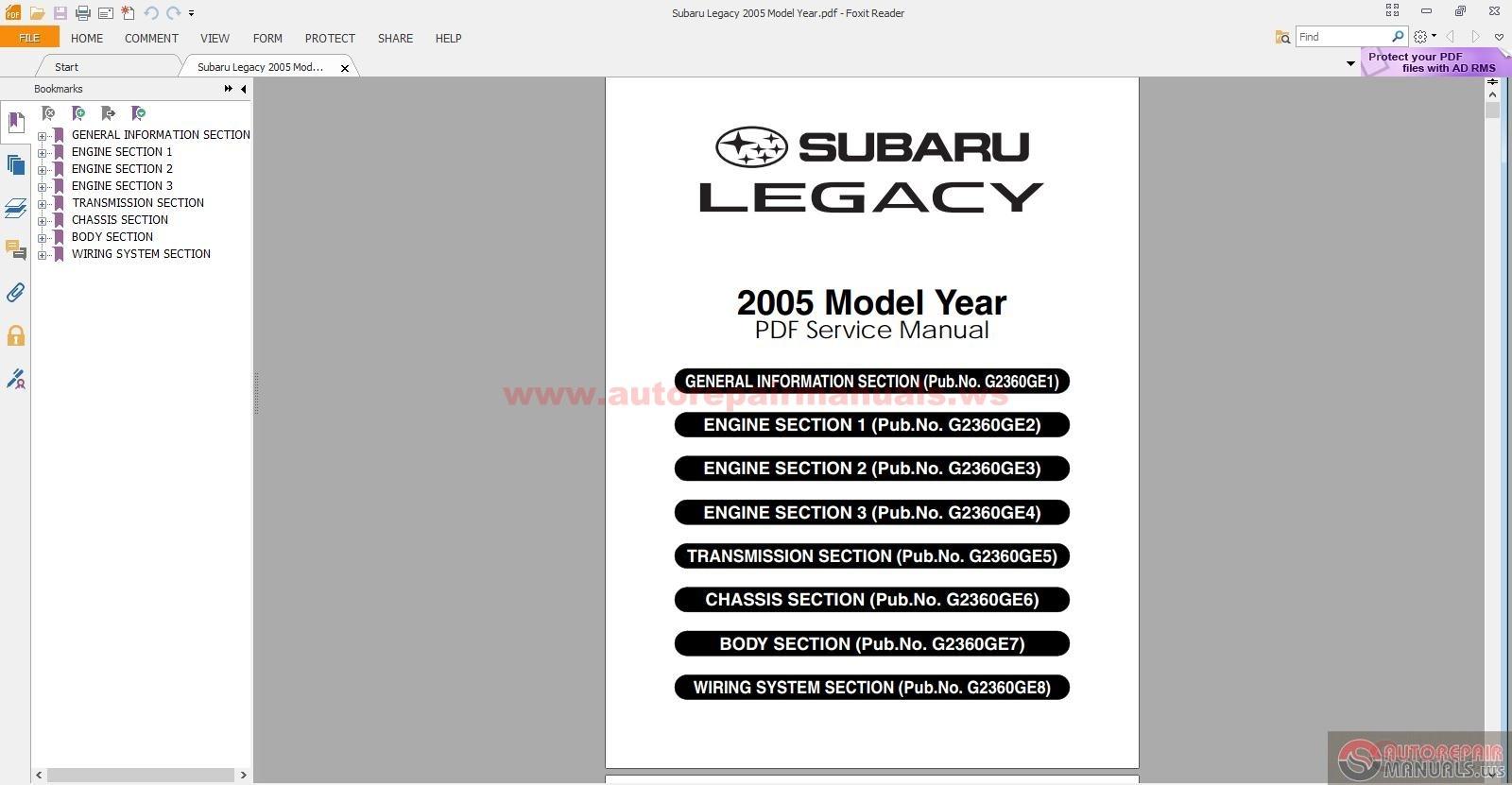 subaru legacy 2005 model year auto repair manual forum. Black Bedroom Furniture Sets. Home Design Ideas