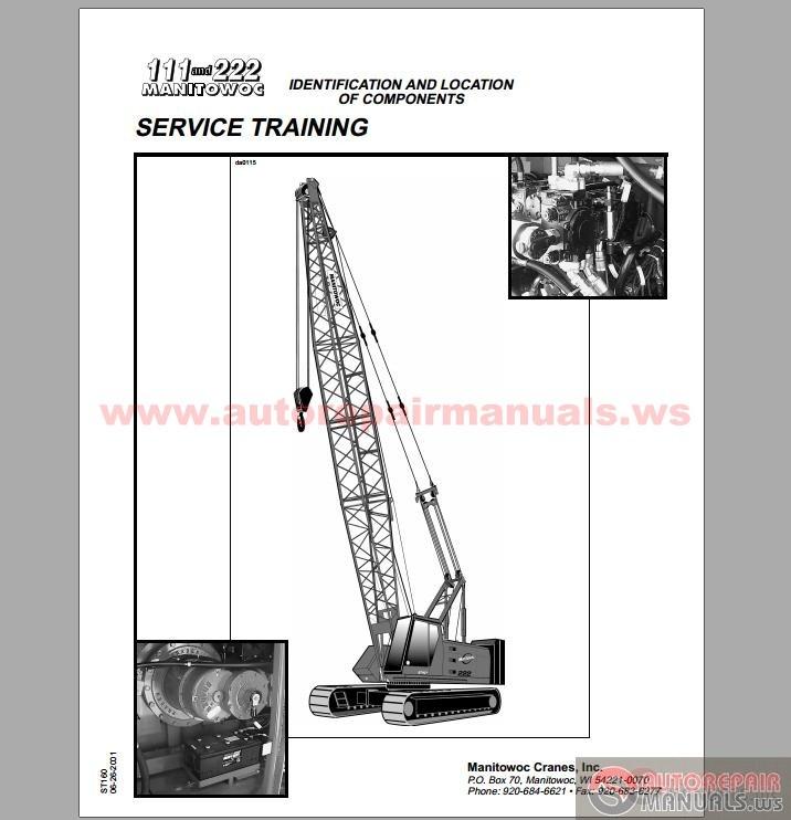Manitowoc Cranes Model 222 CD Shop Manual | Auto Repair