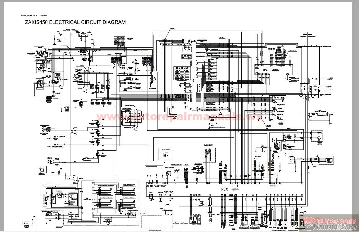 Hitachi Excavator Zaxis 450 Service on porsche wiring diagram
