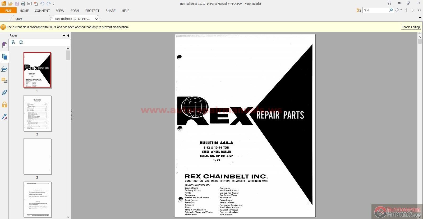 rex rollers 8 12 10 14 parts manual 444a auto repair manual forum heavy equipment forums. Black Bedroom Furniture Sets. Home Design Ideas