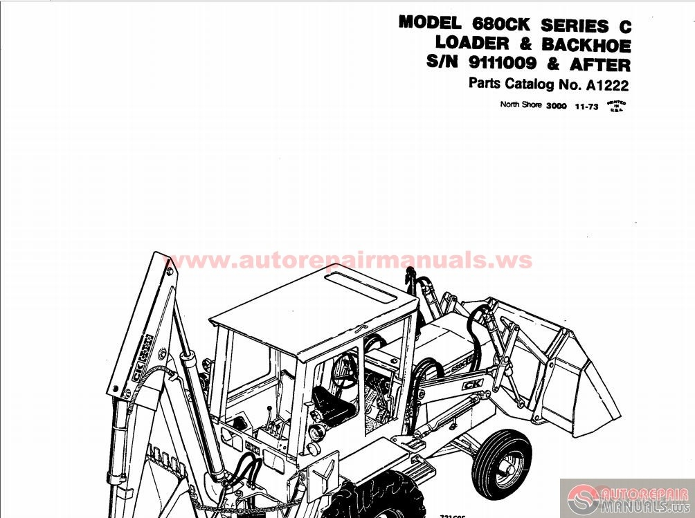 case 680 ck series c loader backhoe parts catalogue