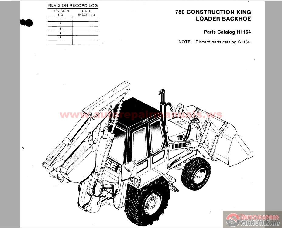 case 780 ck loader backhoe parts catalogue