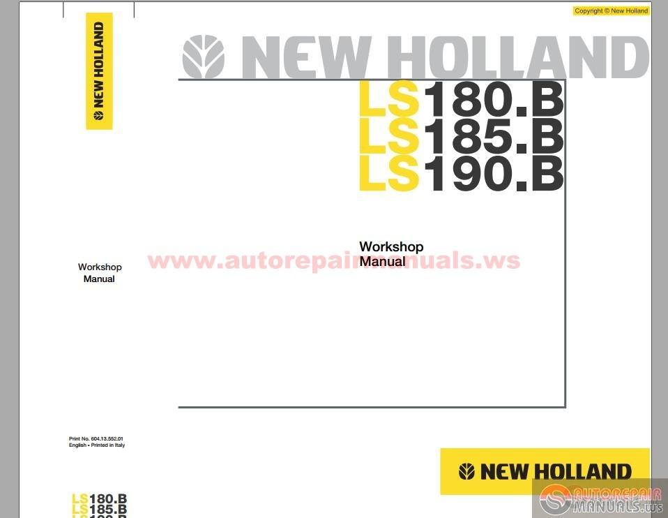New Holland Skid Steer Loader Ls185 B En Service Manual