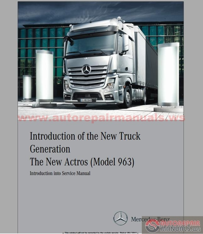 Mercedes truck actros service manual auto repair manual for Motors truck repair manual
