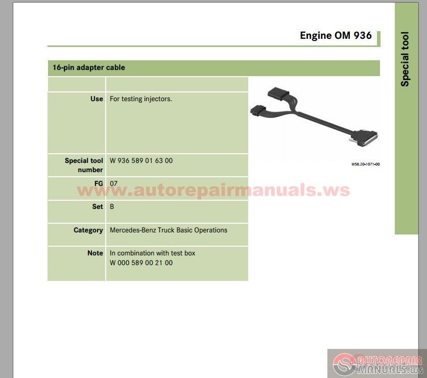 mercedes actros maintenance manual