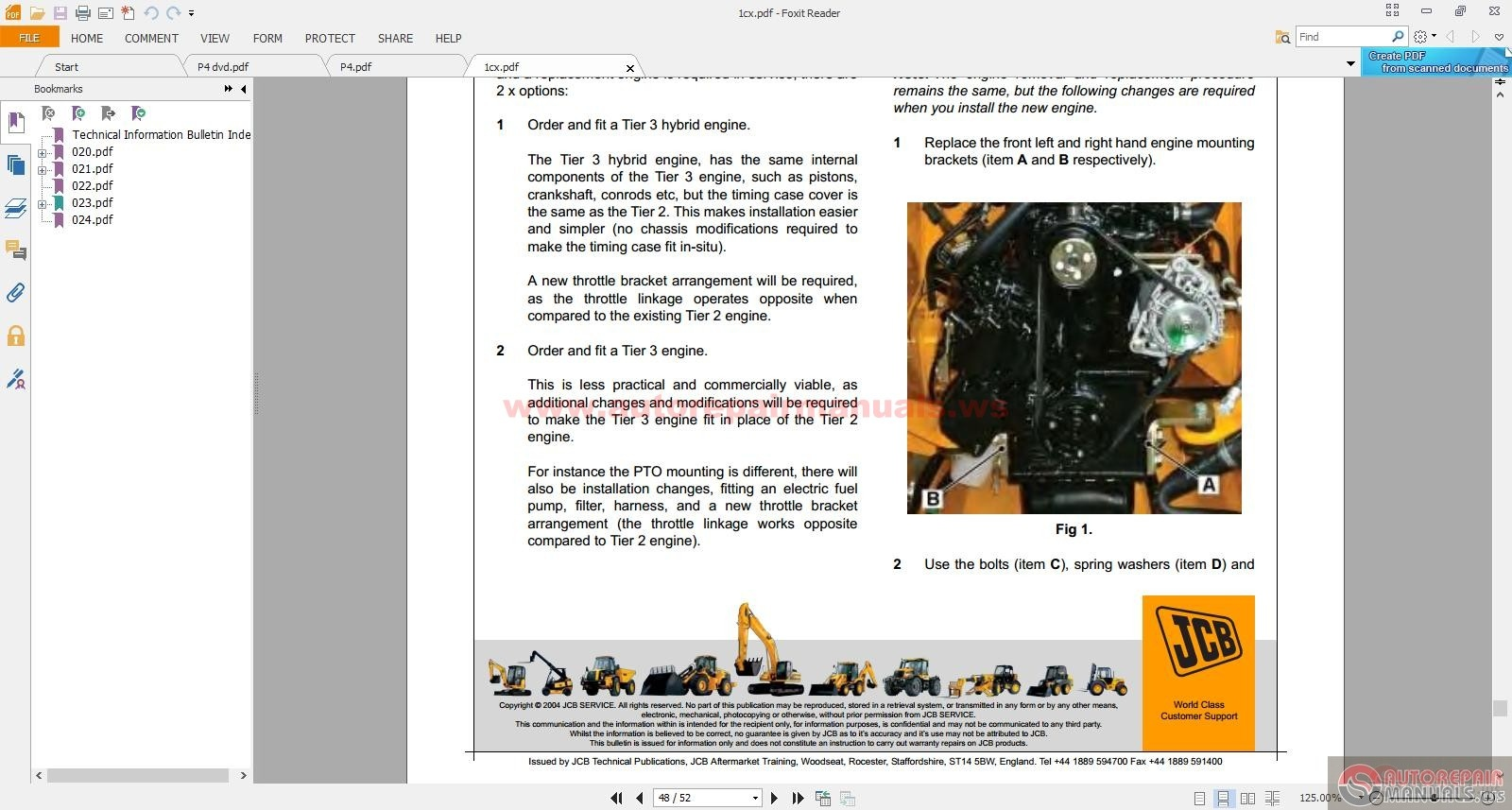 Jcb Compact Service Manuals Kg S4 Issue 50