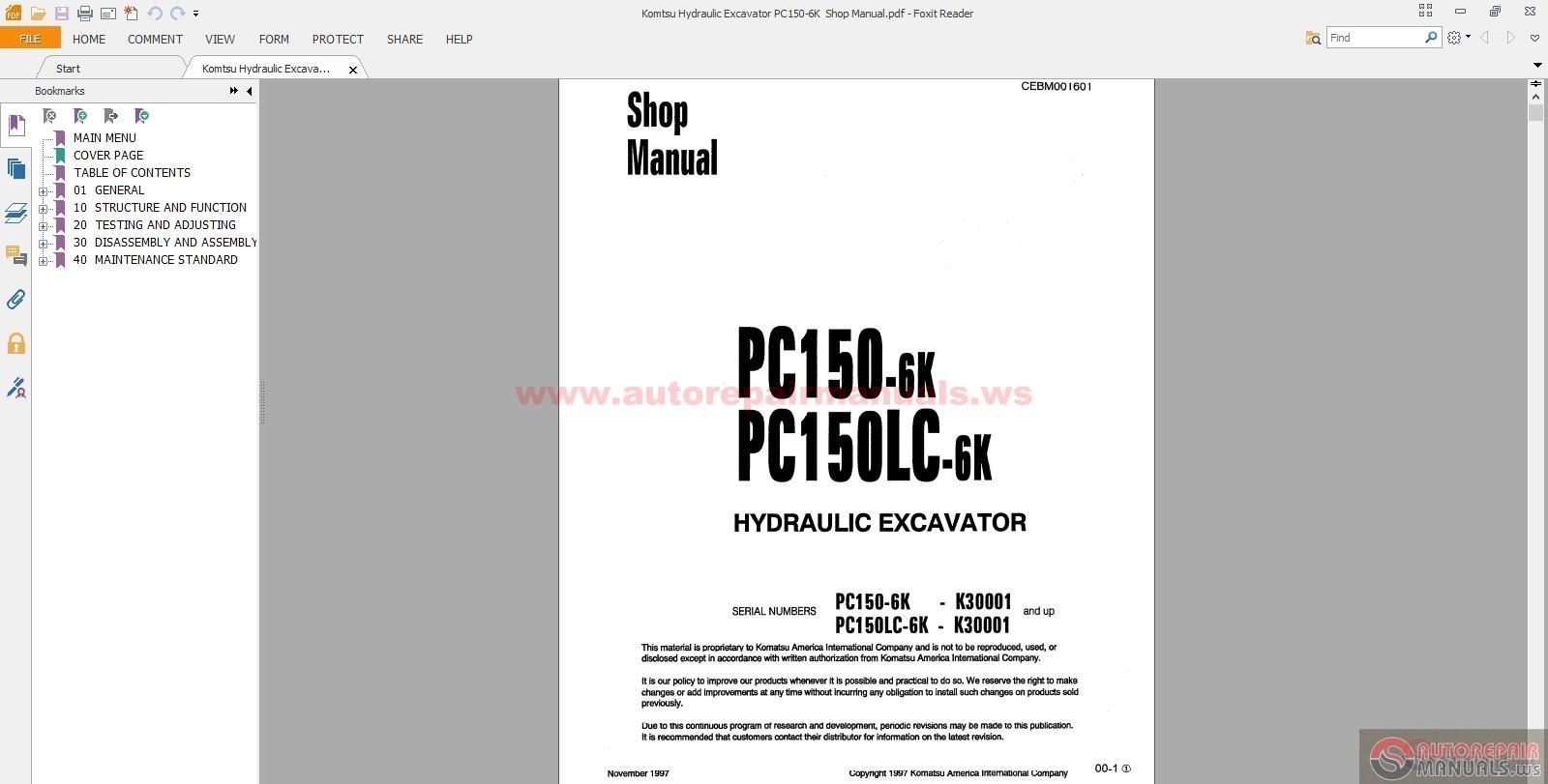 komatsu hydraulic excavator pc150