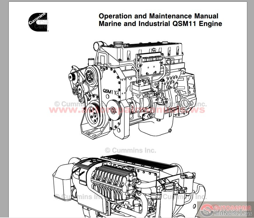 cummins engine qsm11 operation  u0026 maintenance manual