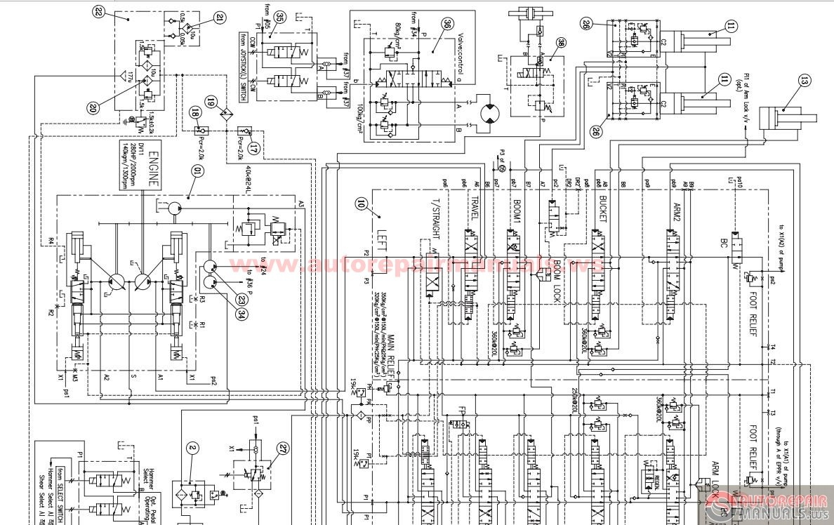 doosan dx420 hydraulic schematic